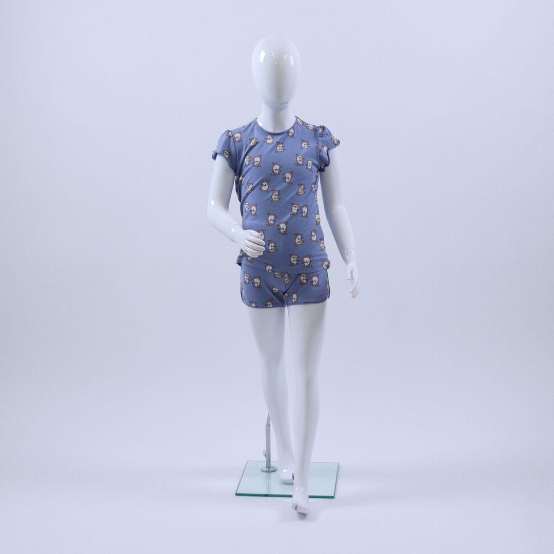 Pyjama meisjes - Woody - 211-1-PZG-Z/959 - BLAUW