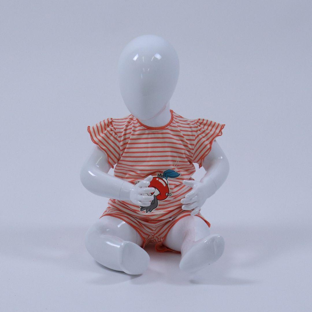 Pyjama baby - Woody - 211-3-PZG-Z/948 - KORAAL/WIT