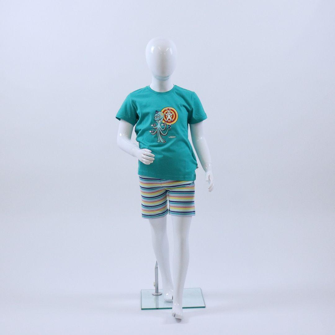 Pyjama jongens - Woody - 211-1-PSS-S/777 - GROEN