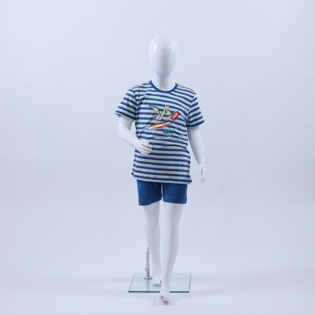 Pyjama jongens - Woody - 211-1-PSS-S/983 - BLAUW/ROOD