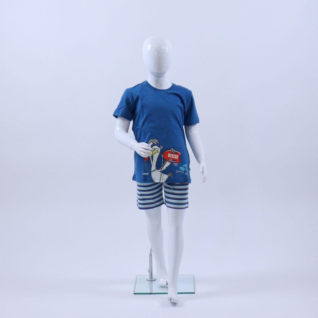 Pyjama jongens - Woody - 211-1-PSU-S/871 - BLAUW