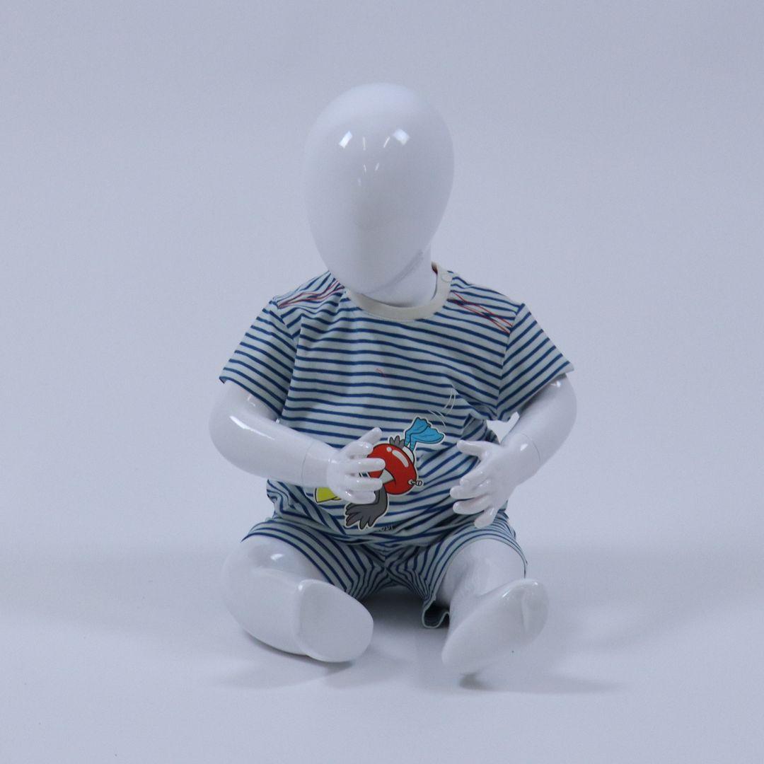 Pyjama baby - Woody - 211-3-PZA-Z/962 - BLAUW-WIT