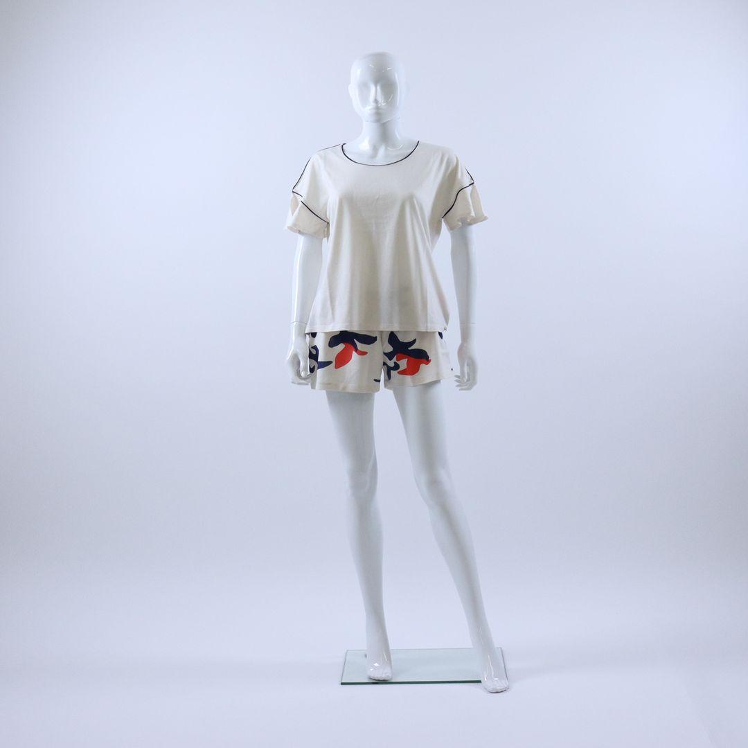 Pyjama dames - Lords x Lilies - 211-5-LPA-Z/112 - WIT