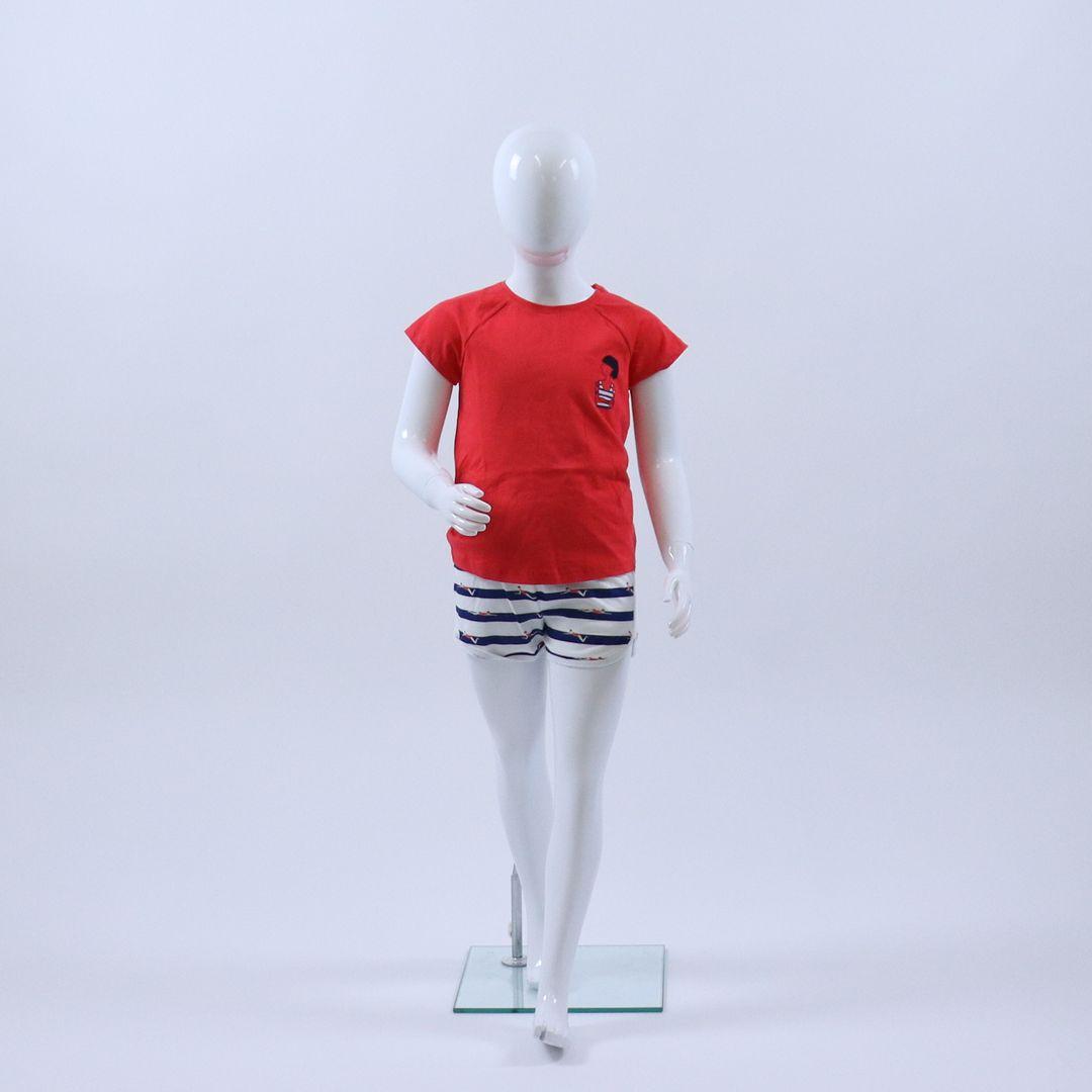 Pyjama meisjes - Sanetta - 244973 - ROOD