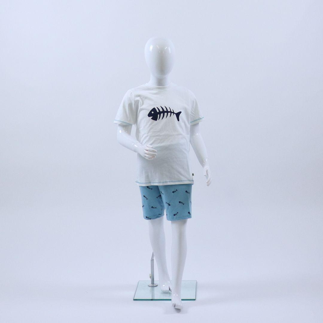 Pyjama jongens - Sanetta - 232593 - WIT