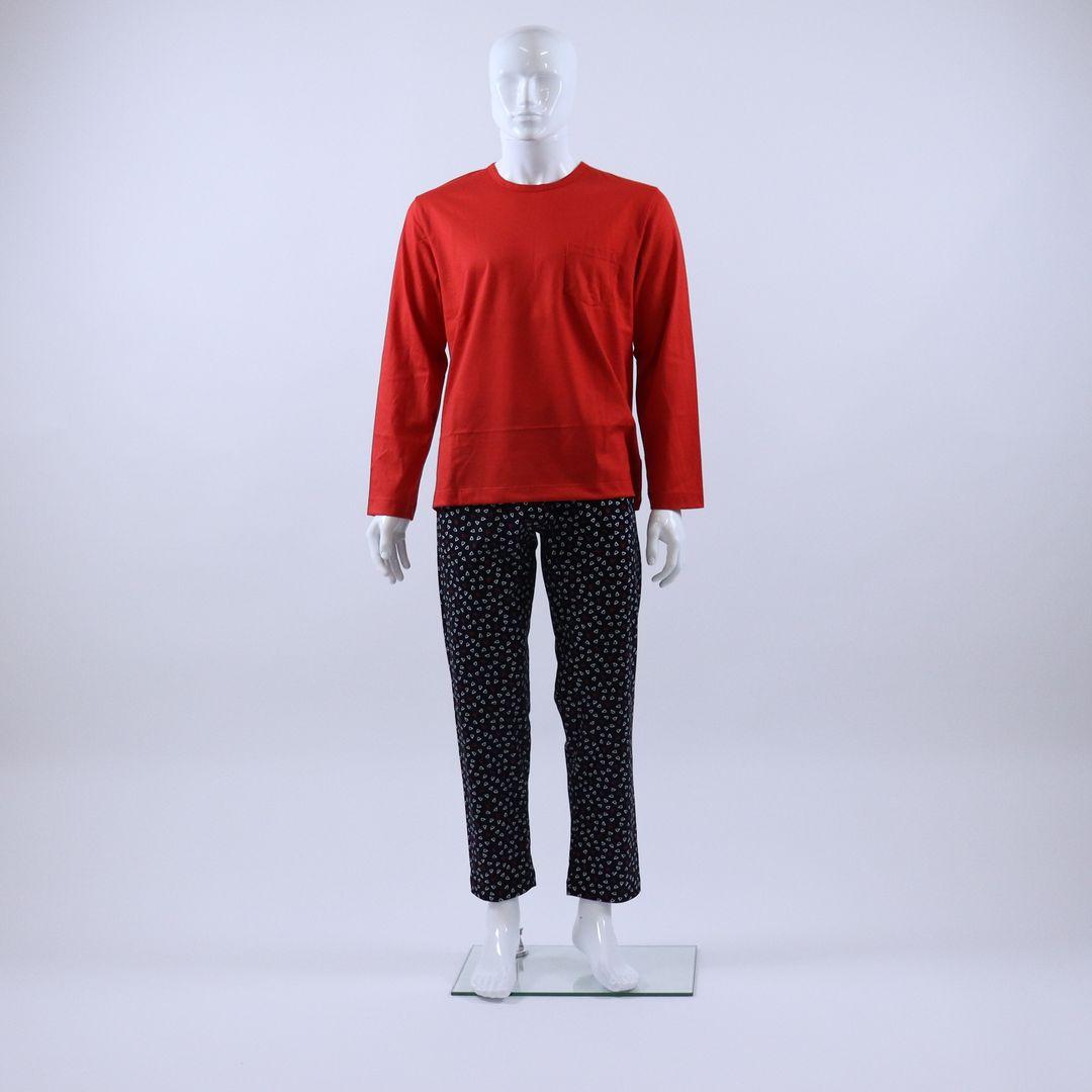 Pyjama heren - Mey - 34001 - ROOD