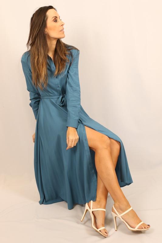 Silvian Heach - Kleed - Long Dress Jurena - PGP21076VEHF Blue Stellar