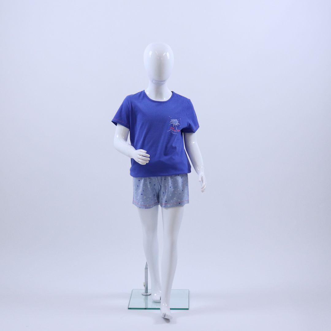 Pyjama meisjes - Sanetta - 244404 - BLAUW