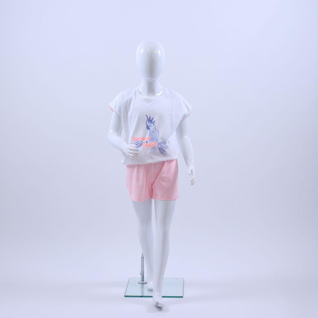 Pyjama meisjes - Sanetta - 244405 - WIT