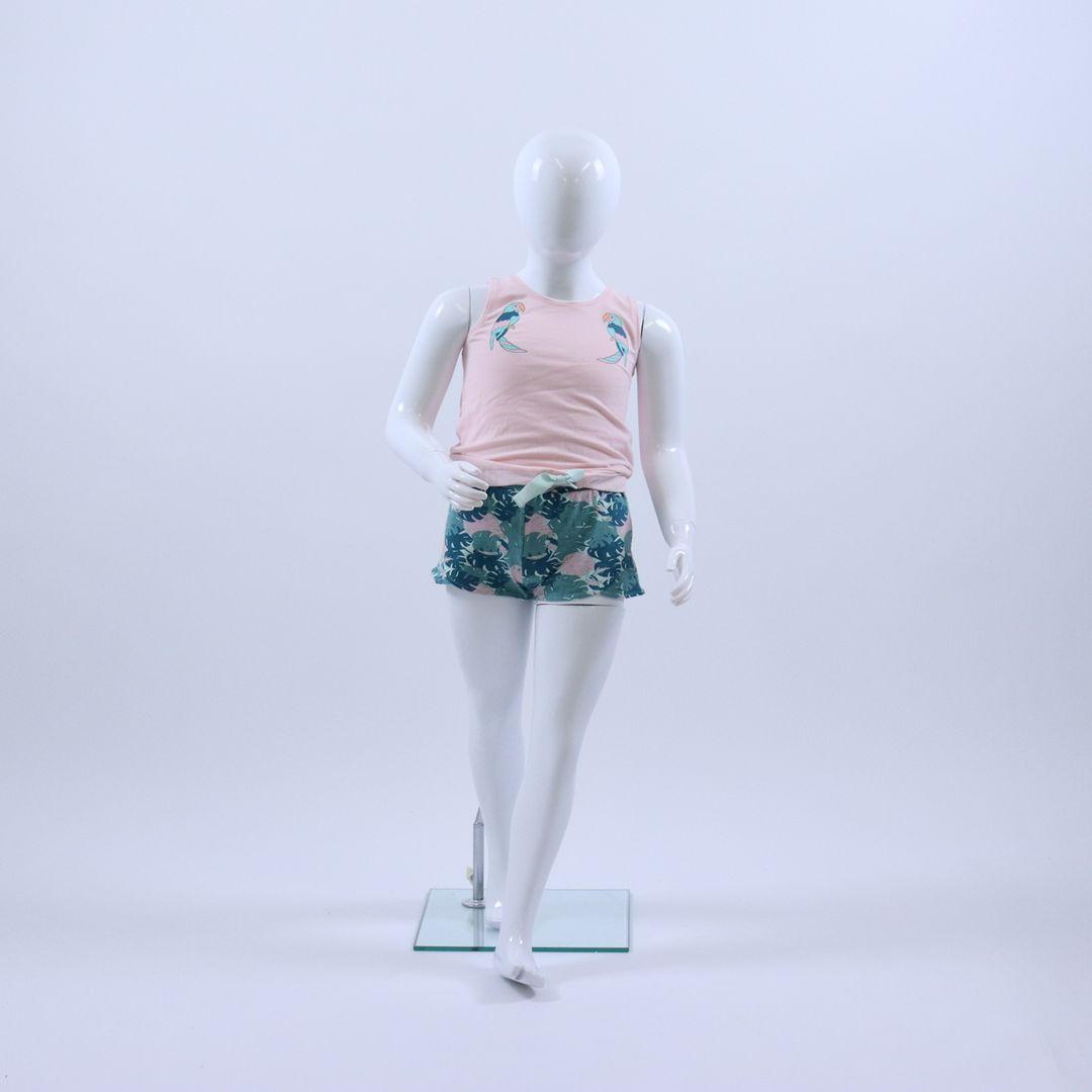 Pyjama meisjes - Woody - 191-1-YPC-Z/455 - poeder roze