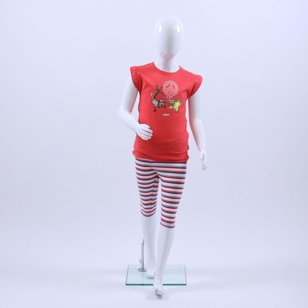 Pyjama meisjes - Woody - 201-1-BAB-S/426 - rood