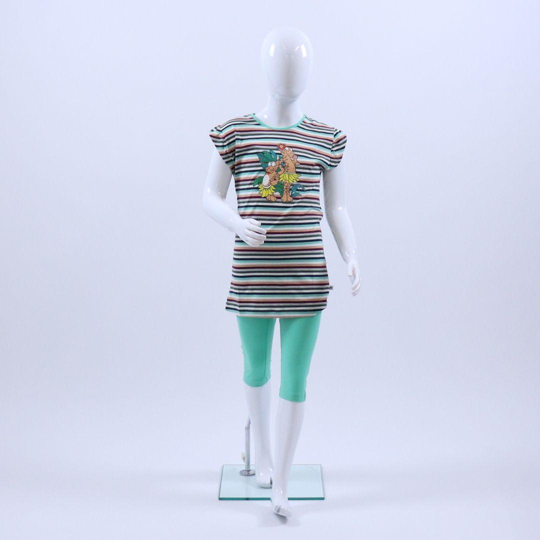 Pyjama meisjes - Woody - 201-1-BAB-S/977 - jungle gestreept