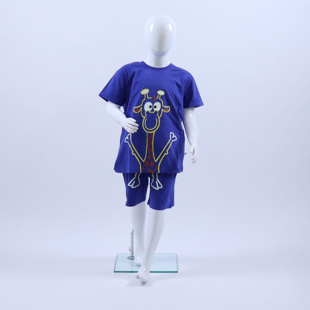 Pyjama jongens - Woody - 201-1-PLE-Z/875 - koningsblauw
