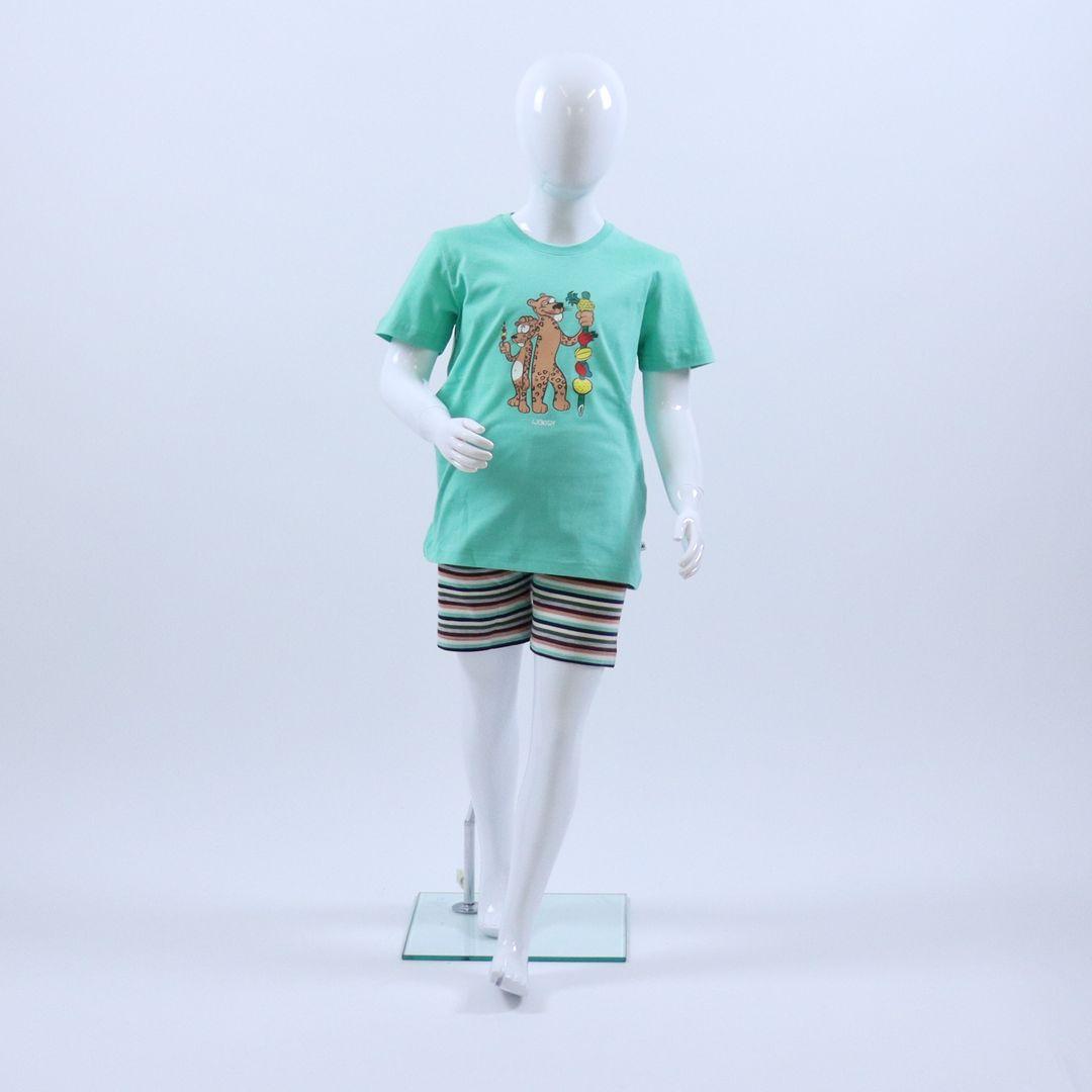 Pyjama jongens - Woody - 201-1-PSS-S/744 - jadegroen