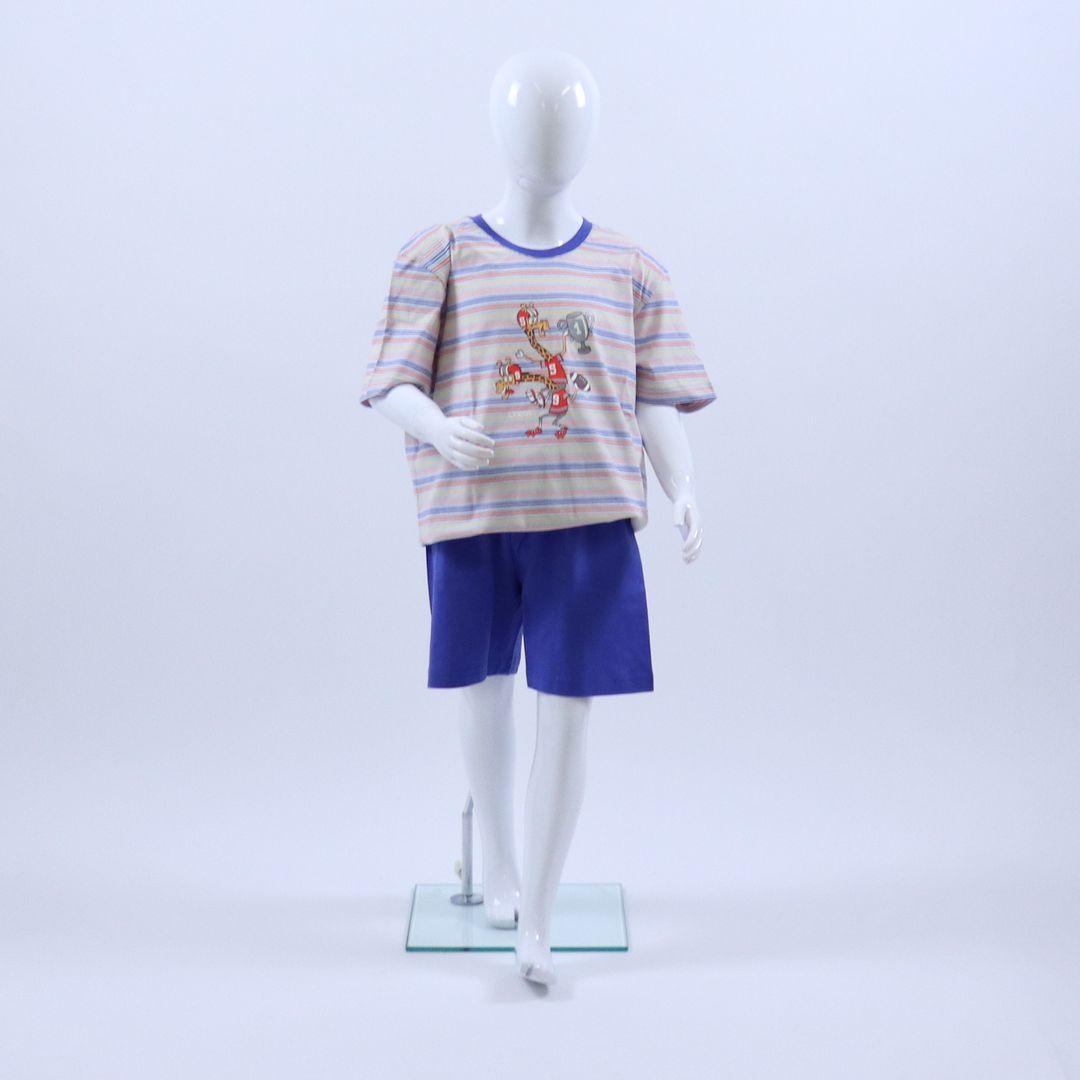 Pyjama jongens - Woody - 201-1-PSS-S/900 - veelkleurig gestreept