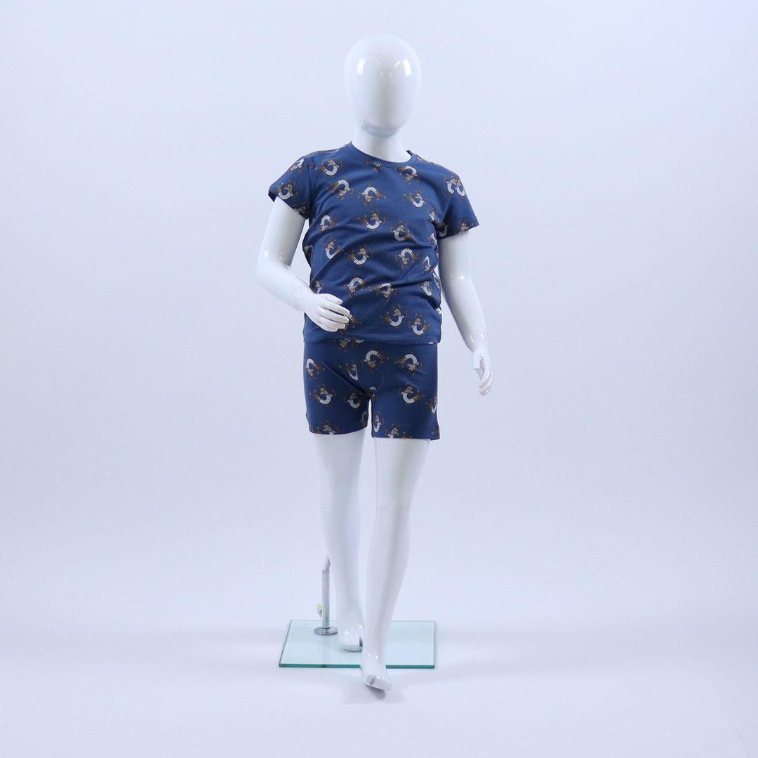Pyjama jongens - Woody - 201-1-PZA-Z/987 - marineblauw met hond
