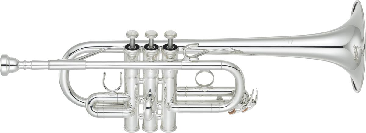 Yamaha Eb/D Trompet YTR-6610S Lightweight Professional - Uitvoering: Verzilverd