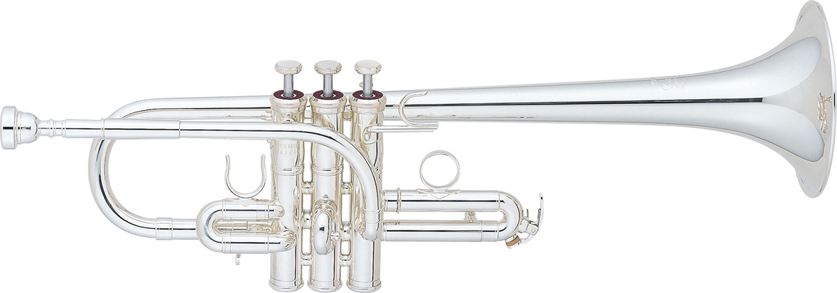 Yamaha E/Es Trompet YTR-9635 Heavy Weight Custom - Uitvoering: Verzilverd