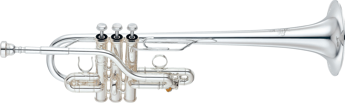 Yamaha Es/D Trompet YTR-9636 Heavy Weight Custom - Uitvoering: Verzilverd