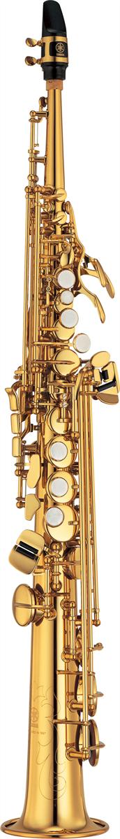 Yamaha Sopraan Saxofoon YSS-475II Recht Model Intermediate - Uitvoering: Goudlak