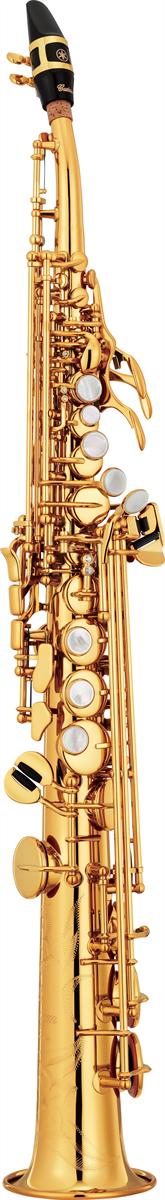 Yamaha Sopraan Saxofoon YSS-82ZR Gebogen Model Custom Z - Uitvoering: Goudlak
