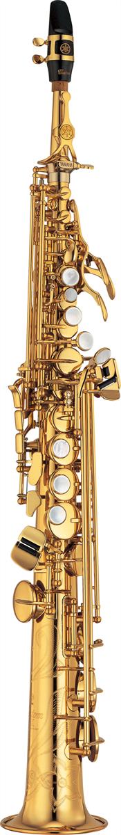 Yamaha Sopraan Saxofoon YSS-875EX Recht & Gebogen Kopstuk Custom EX - Uitvoering: Goudlak