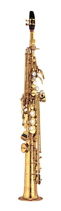 Yamaha Sopraan Saxofoon YSS-875EXGP Recht & Gebogen Kopstuk Custom EX - Uitvoering: Verguld