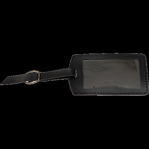 IDTAG ProTec Gesimuleerde Leder ID-Tag - Zwart