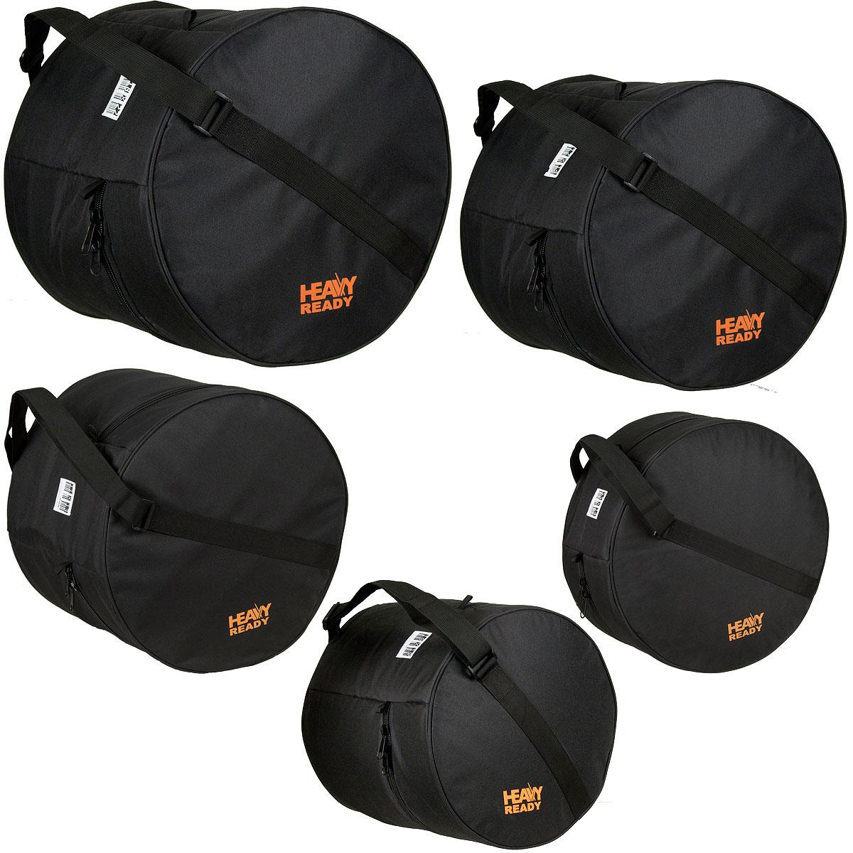 "HRFUSION1 ProTec ""Heavy Ready"" Drum Bag Set - Zwart"