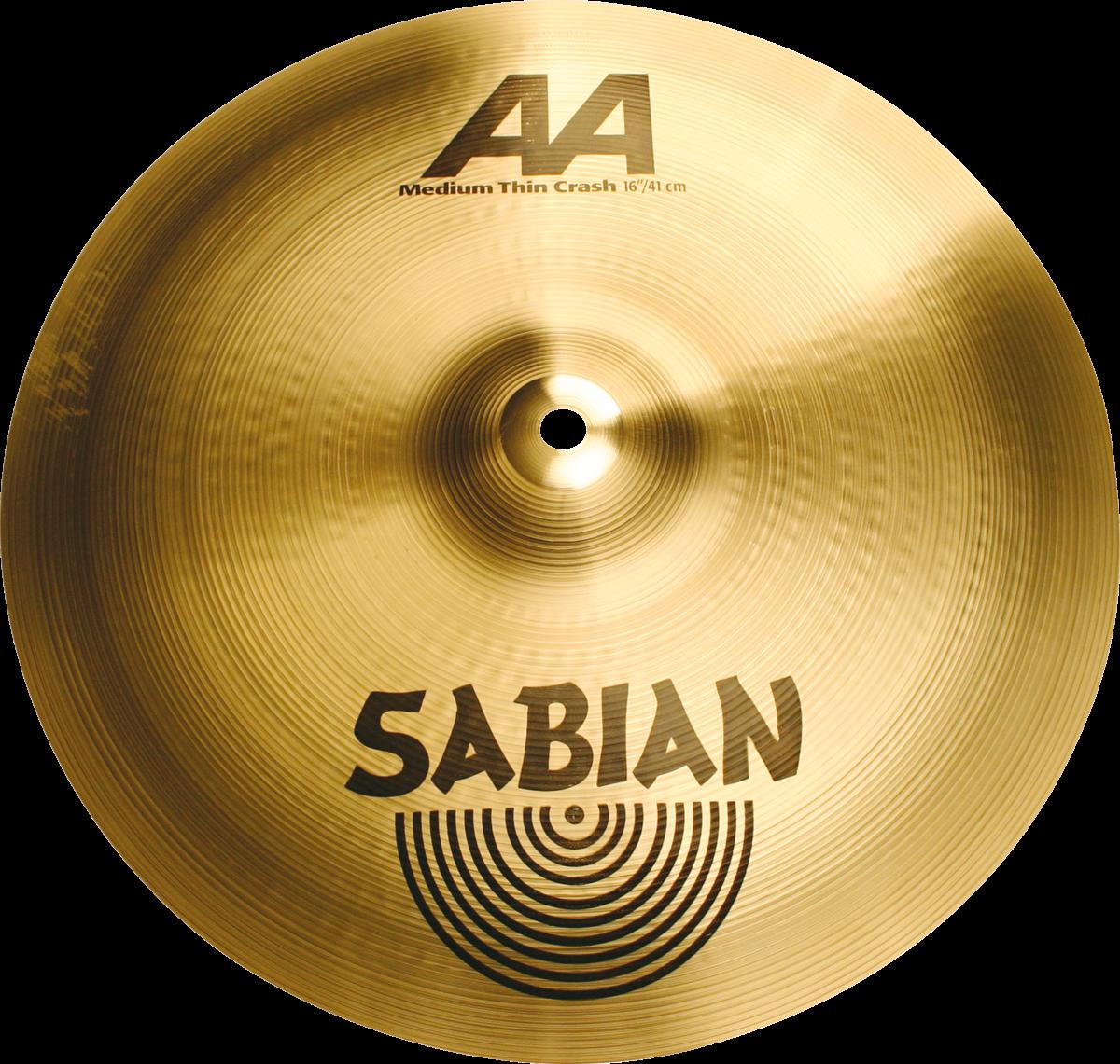 """Sabian Cymbaal AA Crash 16"""" Medium Thin Brillante"""