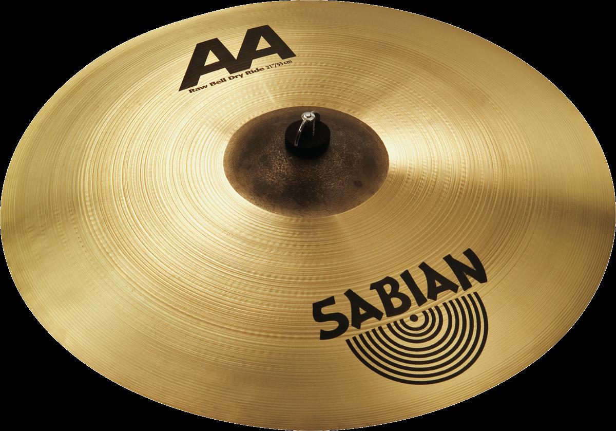 """Sabian Cymbaal AA Ride 21"""" Raw Bell Dry"""