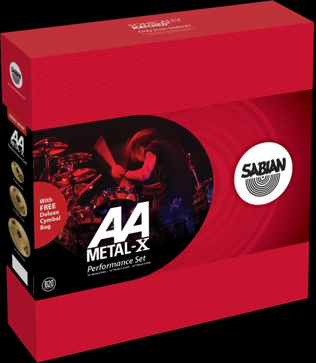 """Sabian Cymbaal AA Harmonische Pack Metal-X 14""""-16""""-20"""""""