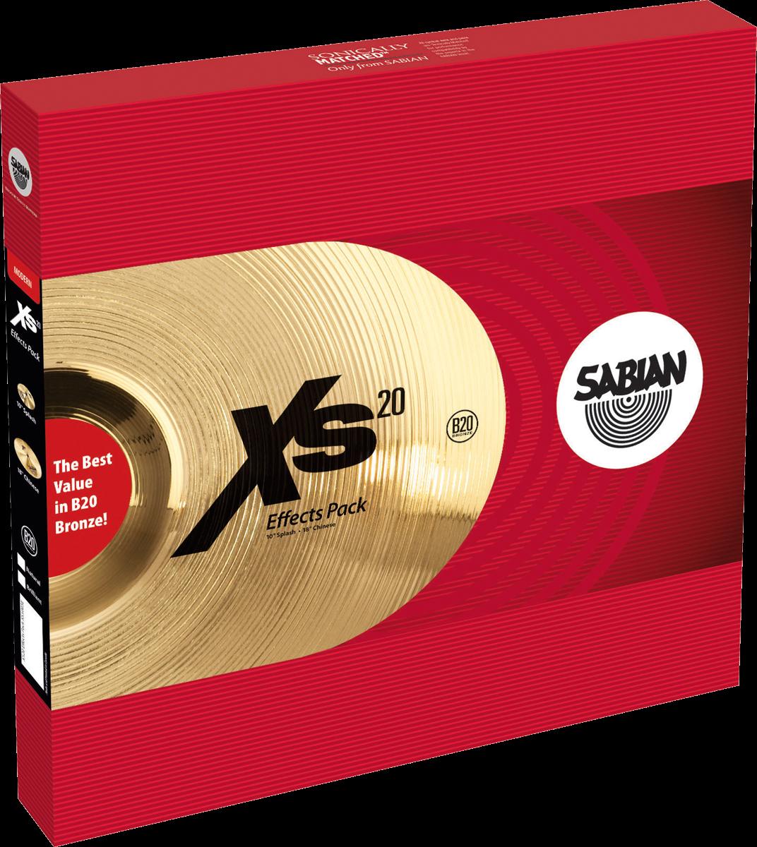 "Sabian Cymbaal XS20 Harmonische Pack Effects 10""-18"""