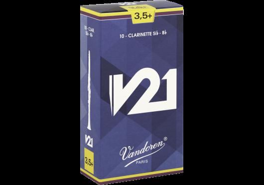Vandoren Rieten Klarinet Bes/A V21 - Sterkte 3,5+ (doos met 10 stuks)