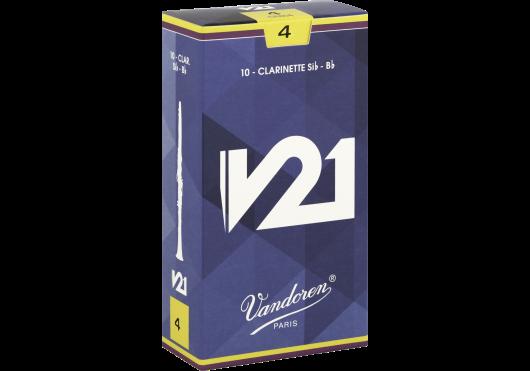 Vandoren Rieten Klarinet Bes/A V21 - Sterkte 4 (doos met 10 stuks)