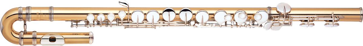 Yamaha Alt-fluit YFL-A421U Gesloten Kleppen met Gebogen Kopstuk - Professional