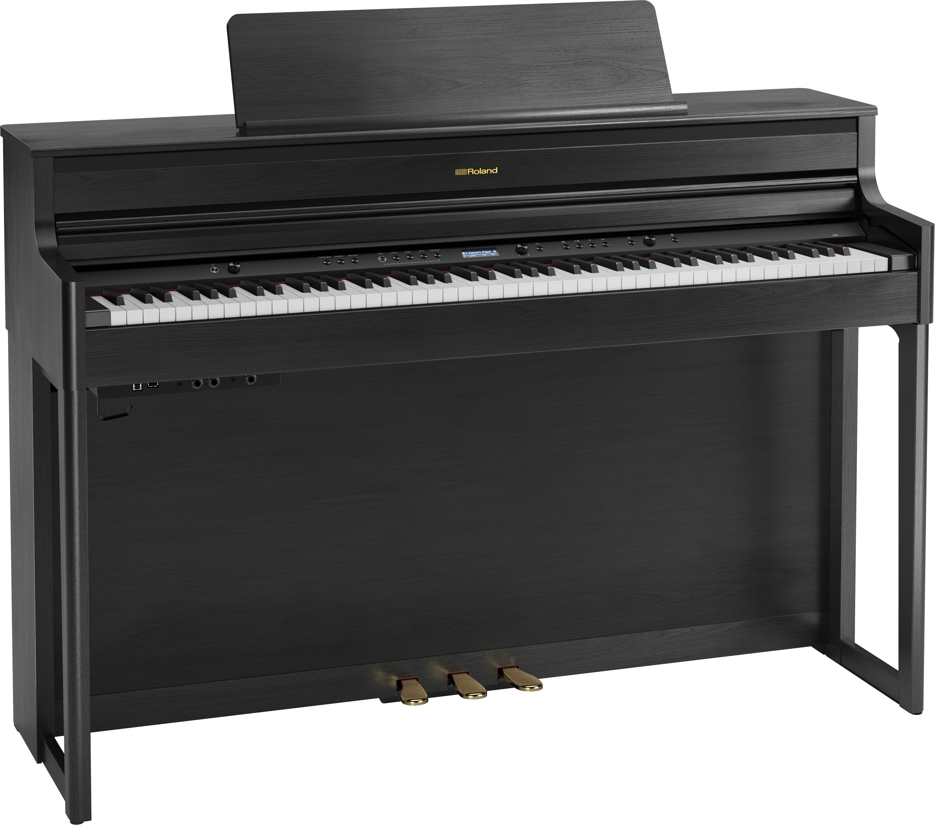 Roland HP704-CH Digitale Piano - Charcoal Black