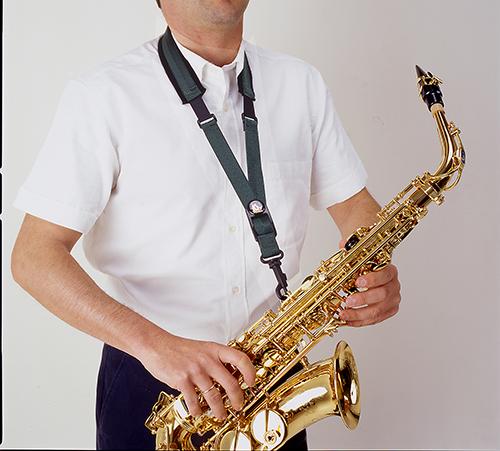 BG France Draagriem Saxofoon Alto/Tenor Comfort S14-SH Kunststof Snaphook