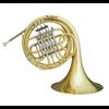 Hans Hoyer F Enkel Hoorn 700-L - Uitvoering: Goudlak