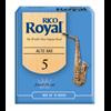 D'Addario Woodwinds Rieten Saxofoon Alto ROYAL - Sterkte 5,0 (doos met 10 stuks)