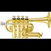 Yamaha Piccolo Trompet YTR-6810 Lightweight Professional - Uitvoering: Goudlak