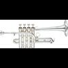 Yamaha Piccolo Trompet YTR-9835 Medium Weight Custom - Uitvoering: Verzilverd