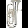 Yamaha Euphonium YEP-621S Professional - Uitvoering: Verzilverd